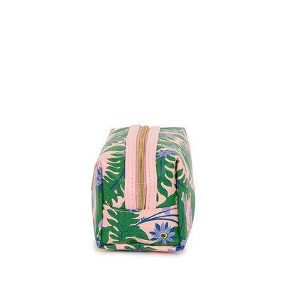 Cosmetiquera Mediana Estampado Tropical color Rosa