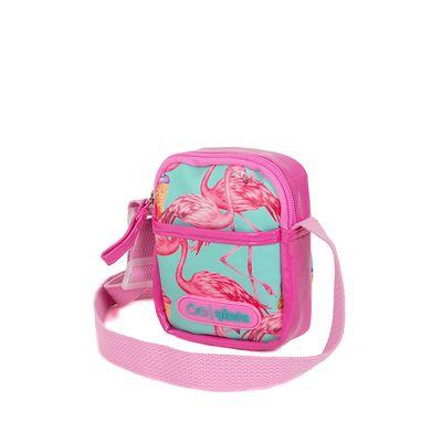 Bolsa Crossbody para Niña Estampado Flamingos color Rosa