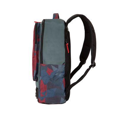 """Mochila Porta Laptop 15"""" Detalle estampado color Rojo Tinto"""