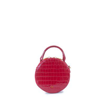Bolsa Crossbody Circular Animal Skin color Rojo