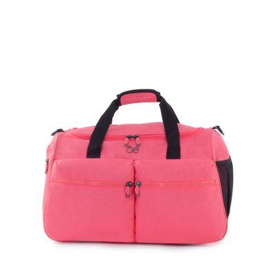 Bolsa Duffle Bag Apilable con Cosmetiquera Removible color Coral