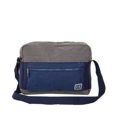 """Mensajera Porta Laptop (16"""") Textil color Azul"""