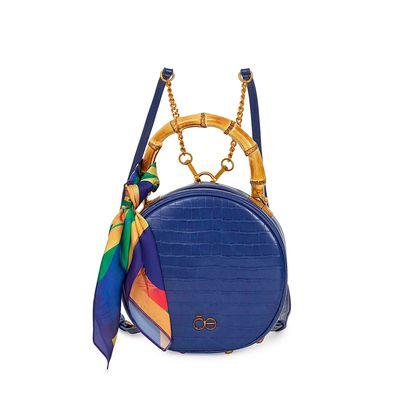 Bolsa 2-en-1 Circular Look Croco color Azul Eléctrico
