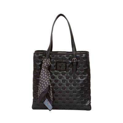 Bolsa Satchel Troquelada color Negro