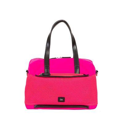 Bolsa Bowling Nylon con Malla Frontal color Rosa