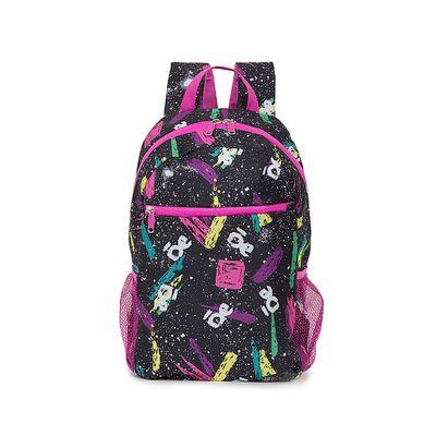 "Mochila Porta Laptop (15"") con Estampado Grafiti color Negro"