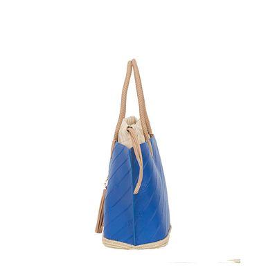 Bolsa Tote 2-en-1 Troquelado Monograma Oe color Azul