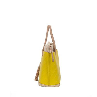 Bolsa Tote 2-en-1 Troquelado Monograma Oe color Amarillo