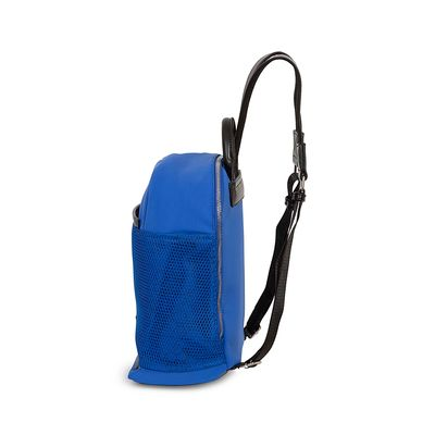 Mochila Nylon con Malla Frontal color Azul Eléctrico