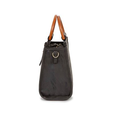 Bolsa Satchel Material Troquelado color Negro