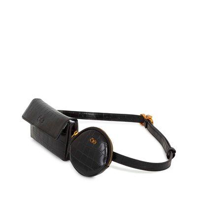 Cangurera Look Croco Multiusos color Negro