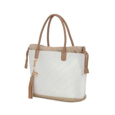 Bolsa Tote 2-en-1 Troquelado Monograma Oe color Blanco