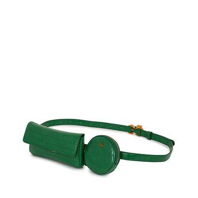 Cangurera Look Croco Multiusos color Verde
