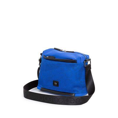 Bolsa Crossbody Nylon con Malla Frontal color Azul Eléctrico