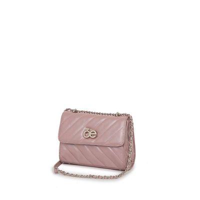 Bolsa Briefcase Metálica Acolchada color Rosa
