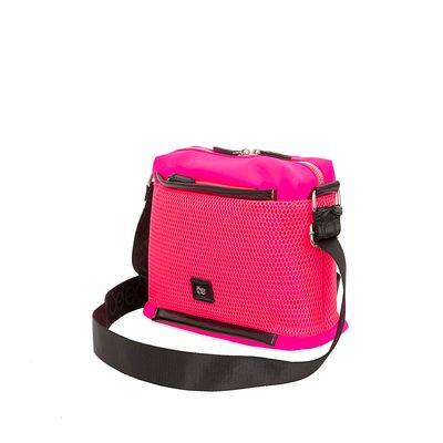 Bolsa Crossbody Nylon con Malla Frontal color Rosa