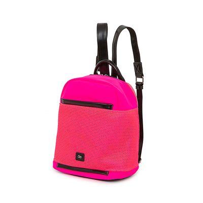 Mochila Nylon con Malla Frontal color Rosa