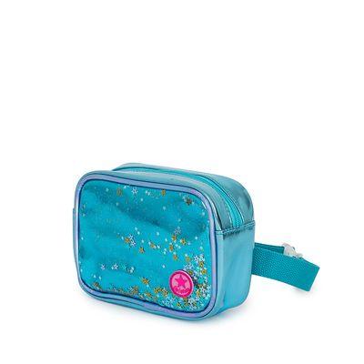 Cangurera Metálica con Glitter color Azul