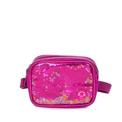 Cangurera Metálica con Glitter color Rosa