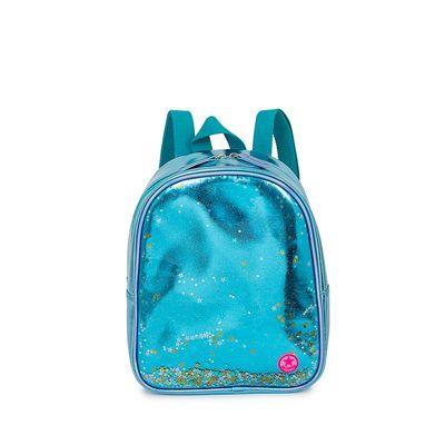 Mochila Metálica con Glitter color Azul