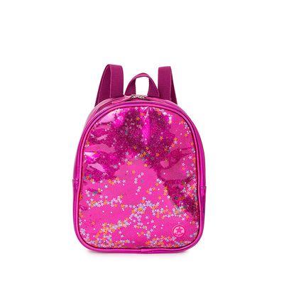 Mochila Metálica con Glitter color Rosa