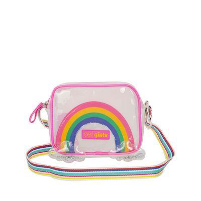 Bolsa Crossbody en Mica Diseño Arcoíris Multicolor