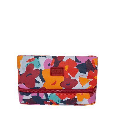 Cosmetiquera Mediana Estampado Floral Multicolor
