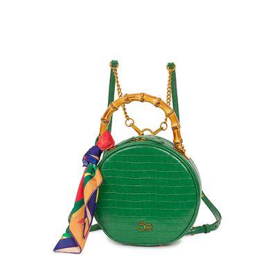 Bolsa 2-en-1 Circular Look Croco color Verde
