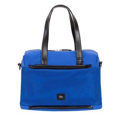 Bolsa Bowling Nylon con Malla Frontal color Azul Eléctrico