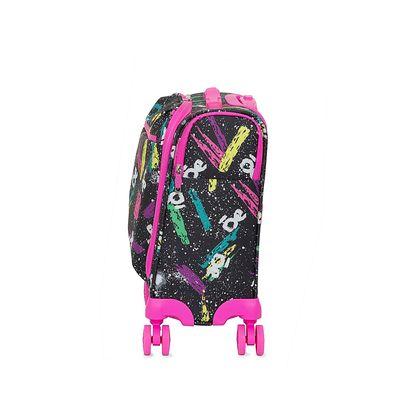 "Maleta Chica (16"") de cabina underseat con Estampado Grafiti Apilable color Negro"
