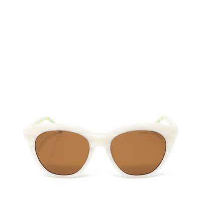 Lentes Cat Eye Estampado Frutal en varilla color Blanco