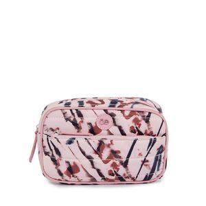 Cosmetiquera Textil Material Acolchado color Rosa