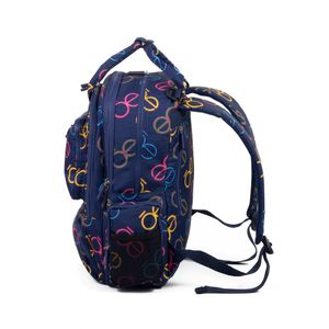 Mochila Pañalera Textil Estampado Monograma color Multicolor