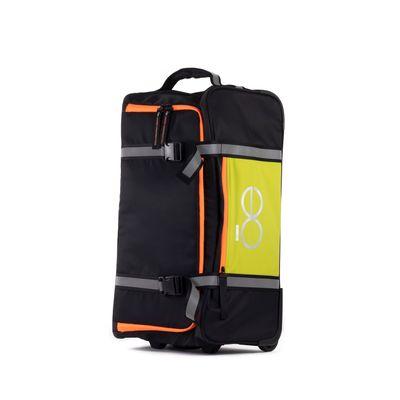 Maleta Duffle Bag con Ruedas Detalles Reflejantes color Negro