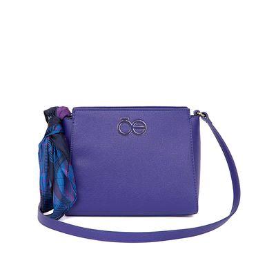 Bolsa Crossbody Mascada Estampado Geométrico color Azul Eléctrico