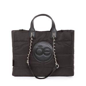 Bolsa Tote Textil Diseño Acolchado color Negro