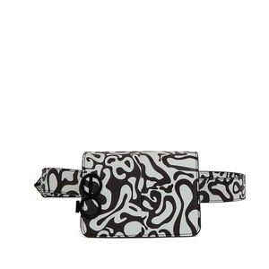Cangurera Chica Print Bitono color Blanco-Multicolor
