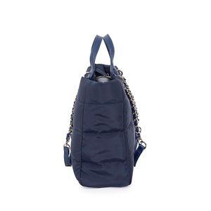 Bolsa Tote Textil Diseño Acolchado color Azul Marino