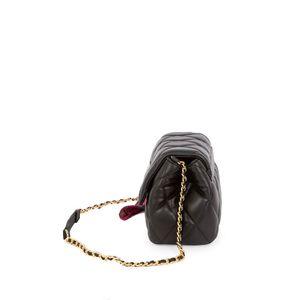 Bolsa Briefcase Acolchada a Rombos con Mascada color Negro