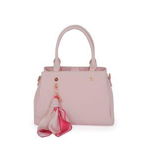 Bolsa Satchel con Mascada CIMA x Oe color Rosa