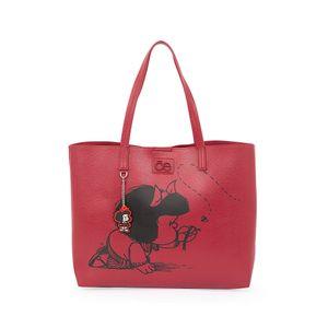 Bolsa Tote 2-en-1 Mafalda x Oe Estampado Icónico color Rojo Tinto