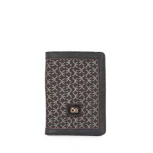 Porta Pasaporte en Jacquard  color Negro