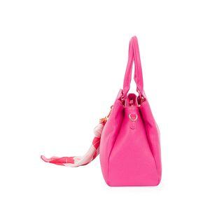 Bolsa Satchel con Mascada CIMA x Oe color Magenta