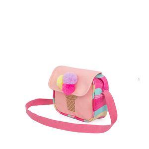 Bolsa Crossbody para Niñas Ice Cream Glitter con Pompones Multicolor