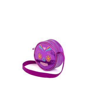Bolsa Crossbody para Niñas Circular Print Catrina color Morado