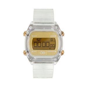 Reloj Digital Strap Transparente color Oro