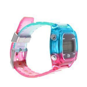 Reloj Digital Strap Transparente color Azul